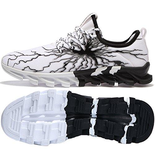 Basket da da Sportive Sneakers Corsa da Shoes Sport Ginnastica Antiscivolo SUADEEX Scarpe Bianco Running Outdoor Casual Uomo Gym Scarpe Scarpe wxYnO1