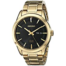 Seiko Men's SNE368 Analog Display Japanese Quartz Gold Watch