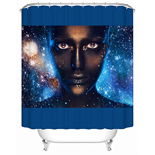 African American Shower Cutain Woman Abstract Print