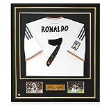 Framed Cristiano Ronaldo Signed Real Madrid Soccer Jersey