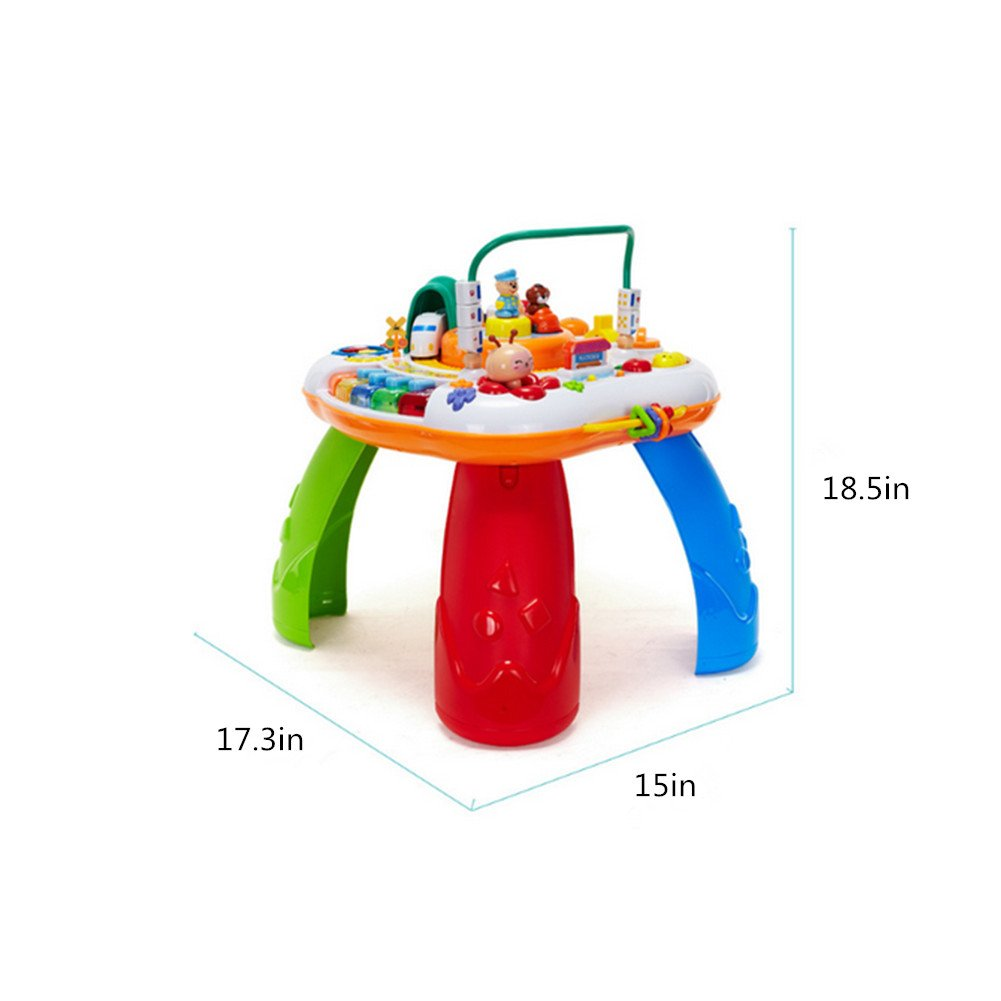 Sytle-Carry Learning Activity Table Toddler Toys - Music Activity Center Game Table Baby Toys 6 to 12 Months Sit to Stand Play Table Toys for 1 2 3 Years Old Boys Girls Birthday Gifts by Sytle-Carry (Image #7)