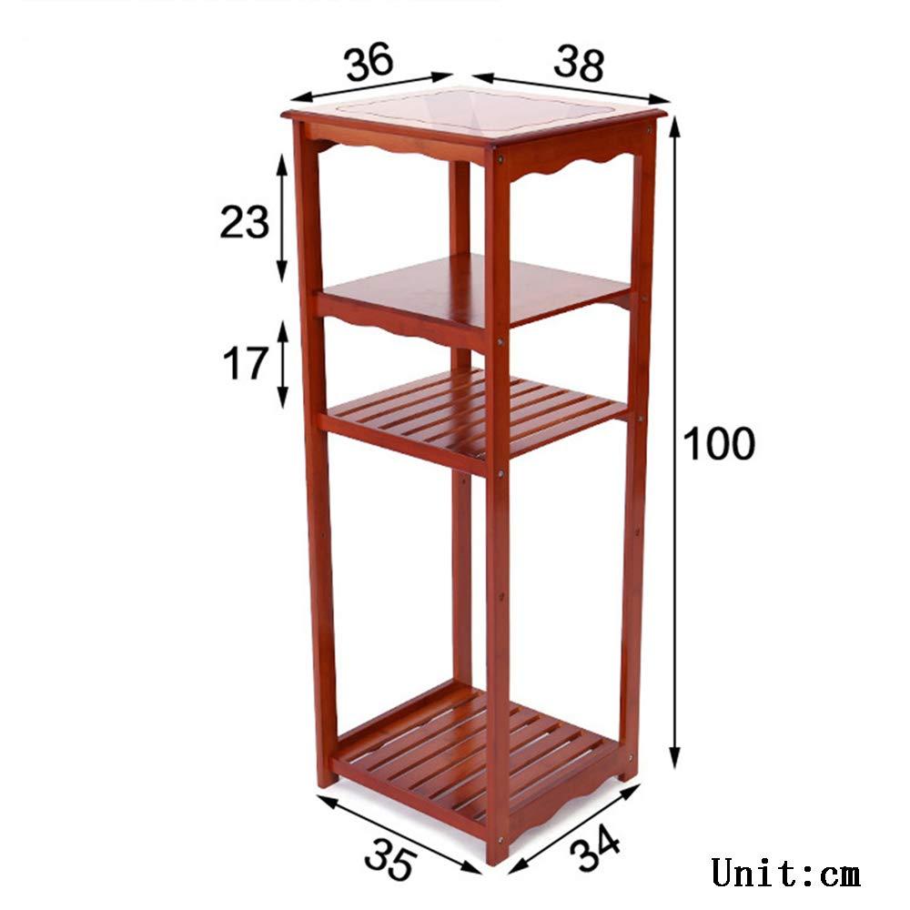 H Shelves Regale ZR Tee-Ablage aus Bambus Massivholz Trinkregal Eimer Aufbewahrungsregal Teetisch Teetisch – Wanddekoration h
