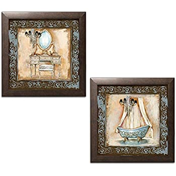Amazon.com: Elegant Brown and Blue Clawfoot Tub and Vanity ...