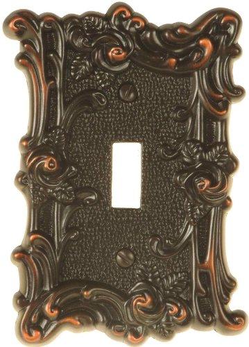 AmerTac 60TVBL Provincial Single Toggle Wallplate, Aged Bronze ()