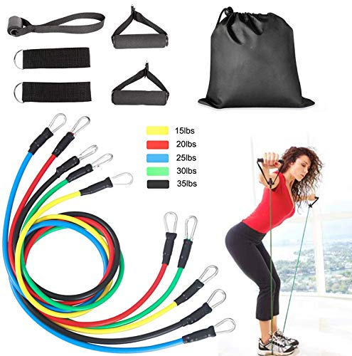 11PCS/Set Resistance Bands Set, Exercise Resistance Band for total body exercise use anywhere, xercises Elastic Pull…