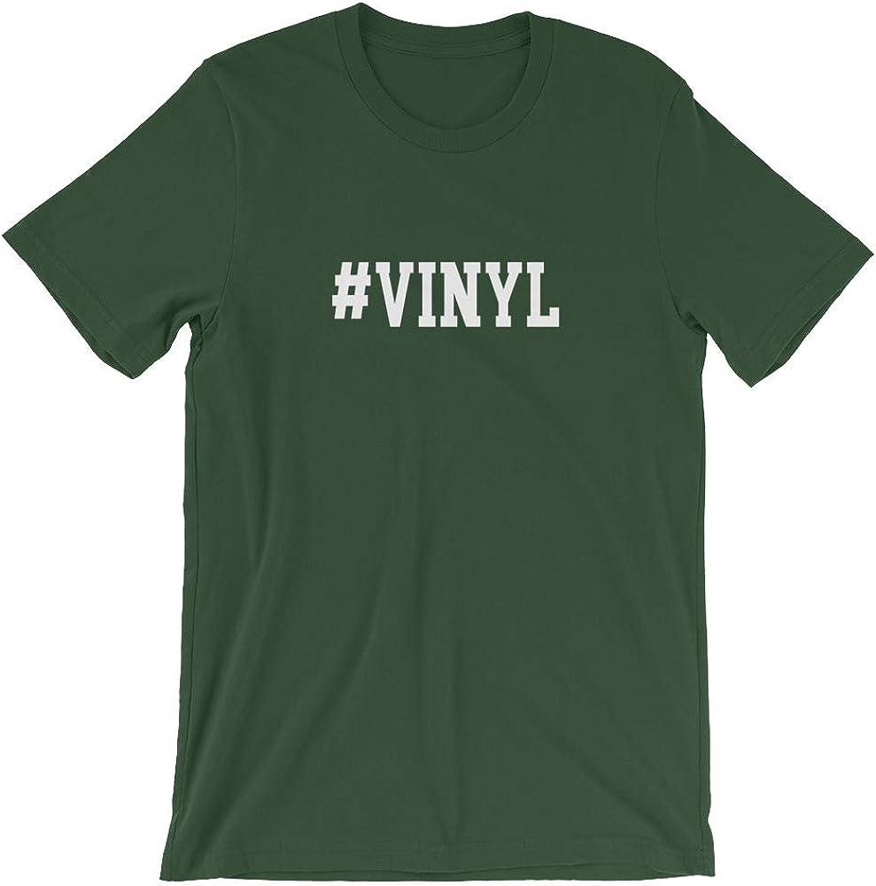 Quotablee Vinyl Shirt Vinyl Record Hipster Funny Music Leeve Unisex T-Shirt Hashtag