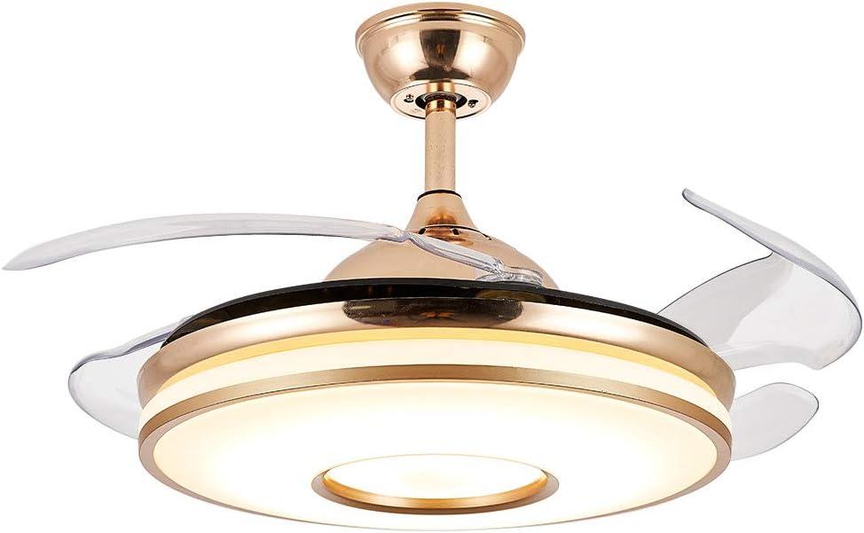 Ventilador de techo de 42 '' con lámpara 3 cambios de color el ventilador tiene 3 configuraciones de velocidad Iluminación de luz de techo LED y control remoto silencioso dormitorio infantil sala de