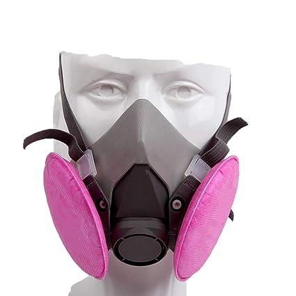 Cradifisho XQ - Máscara Antipolvo, antivaho y antihumo Reutilizable química, Antipolvo, respirador,