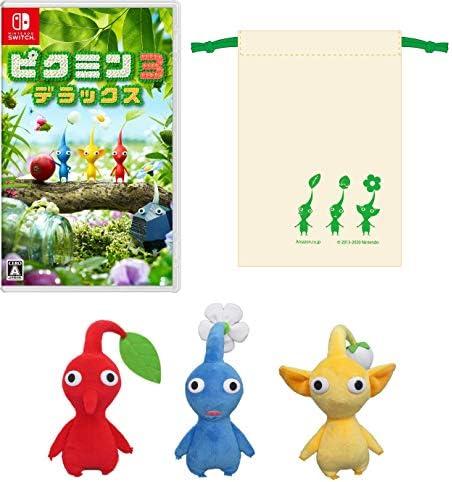 ピクミン3 デラックス -Switch +赤ピクミン・青ピクミン・黄ピクミンぬいぐるみセット (【Amazon.co.jp限定】オリジナル巾着 同梱)