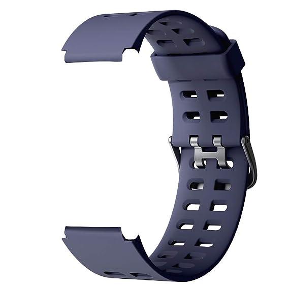 Amazon.com: Correa de repuesto de silicona suave para reloj ...