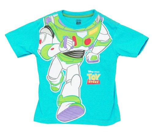 [Buzz Lightyear Toy Story Disney Pixar Movie Costume Juvenile Juvy T-Shirt Tee] (Buzz Lightyear Shirt Costume)