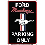 HangTime Ford Mustang Parking Only Sign Black