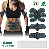 Inpher Muscle Toner EMS Muscle Stimulator Abs Trainer Home Fitness and Gym Workout Equipment for Arm/Thigh and Abdomen Extra 10pcs Electrode Gel Replacement