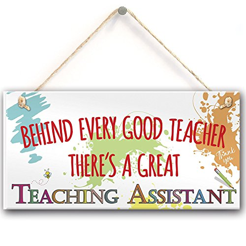Meijiafei Behind Teacher Great Teaching Assistant Hanging Plaque End of Year School Gift 10