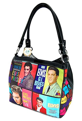 Faux Medium Style 8333 Purse Leather Presley Way Two Colorful Elvis t5aOPqwxW7