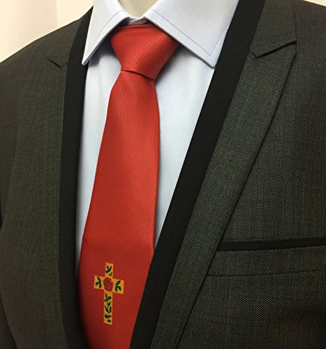 Red NT016 logo Croix Rose Masonic 100 silk with Tie Degree qawYAnS