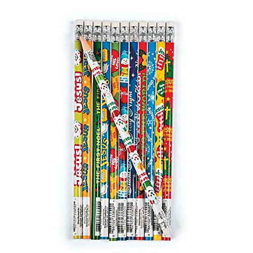 144 Christian Nativity Themed Christmas Lead Pencils