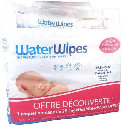 WATERWIPES paquet /économique 240 lingettes 28 lingettes OFFERT