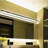 SJUN 8W/10W/13W/15W Led Smd 5050 Appliques Acrylique Lumière Luminaire Miroir Feu Avant Salle De Bains Wc Chambre,Blanc/Longueur 100Cm 15W