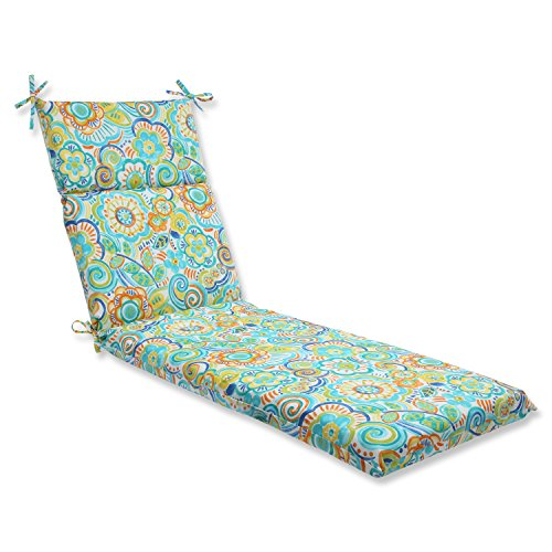 Pillow Perfect Outdoor Bronwood Caribbean Chaise Lounge Cushion, Multicolored For Sale