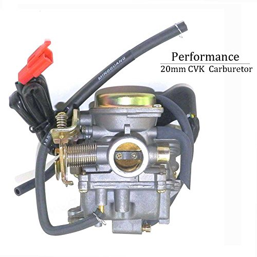 YunShuo Performance Carburetor 50cc-100cc 139QMB GY6 Scooter Carb CVK 20mm by YunShuo (Image #4)