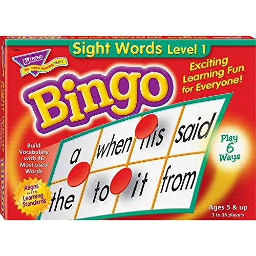 - Young Learner Bingo Game, Sight Words Level 1