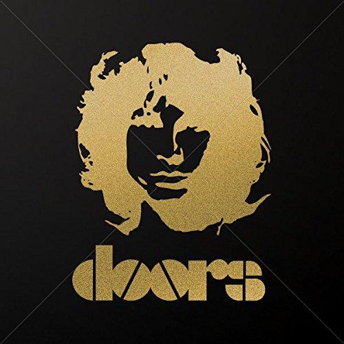 Stickers Decal Jim Morrison Doors Car door Hobbies Sports car Durable Gold-Matte (7 X 5.40 In)