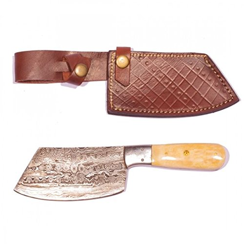 Titan International Knives TD-001 Damascus Meat Clever