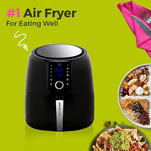 Simple Living Products SLAFD25L Air Fryer XL Black