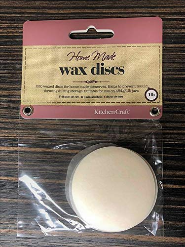 2 Packs for use on 454gml//1lb Jars Wax Preserve Discs 200 per Pack Diameter 5cm