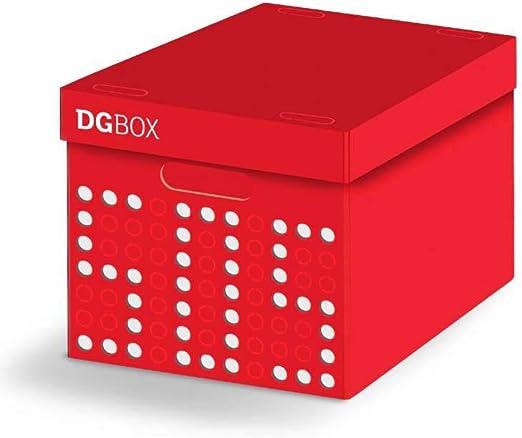 LAVATELLI DG Box Caja en Carton, Rojo/Blanco, 32 x 44 x 28 cm: Amazon.es: Hogar