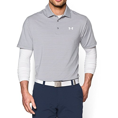 Under Armour Men's Playoff Polo, True Gray Heather /White, ()