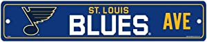 WinCraft NHL St. Louis Blues Full Color Street Sign, 3.75 x 19-inches