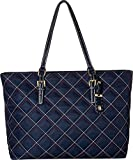 quilt handbag - Tommy Hilfiger Women's Julia Triple Quilt Nylon Tote Tommy Navy One Size