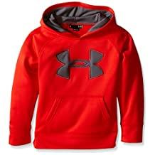 Under Armour Little Boys' Big Logo Hoodie, Risk Red, 4