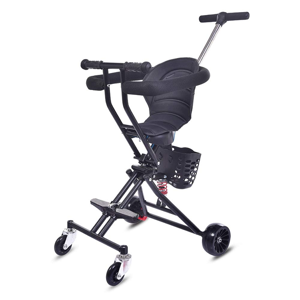 Baby Light Trolley, Baby Car, Baby Artifact, Infant Child, Foldable, Baby Stroller-(Black) HS-01