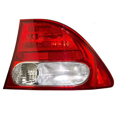 Passengers Taillight Tail Lamp Quarter Panel Mounted Lens Replacement for Honda ()