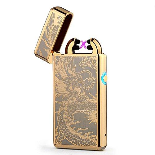 Arc Lighter Windproof Flameless Cigarette Lighter-Plasma Beam Lighter-Electric Lighters-Dragon Ligther-Rechargeable-No Butane