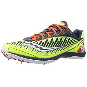 Saucony Men's Kilkenny Xc5 Spike Cross Country Spike Shoe,Citron/Navy/Red,11.5 M US