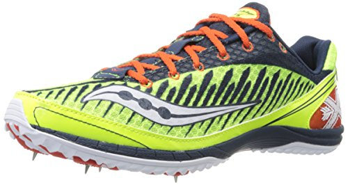 Image of Saucony Men's Kilkenny Xc5 Spike Cross Country Spike Shoe,Citron/Navy/Red,13 M US