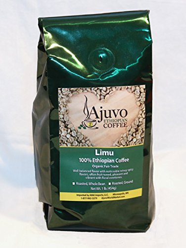 Ethiopian Limu Coffee - Roasted, Whole Bean (1lb.)