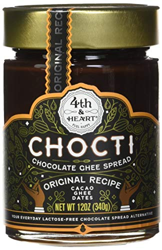 Chocti Chocolate Ghee Cacao Spread by 4th and Heart, 12 Ounce, Grass-fed, Lactose-free, Certified Paleo ()