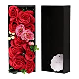 AmyHomie Artificial?lower, Rose Flower with Gift Box, Superior Soap Flower, Festival Giftsn (1, Red)