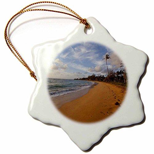 3dRose orn_89775_1 Sunrise, Kapaa Beach Park, Kauai, Hawaii - US12 DPB2071 - Douglas Peebles - Snowflake Ornament, Porcelain, 3-Inch by 3dRose