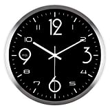 ASIBG Home Modern Digital Wall Clock For Living Room, Bedroom And Kitchen,16 Inches,The Silver