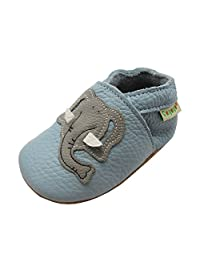Sayoyo Baby Elephant Soft Sole Leather Infant Toddler Prewalker Shoes