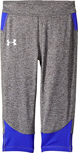 Under Armour Kids Girl's Pinnacle Capris (Little Kids) Carbon Heather (Under Armour Tech Capri)