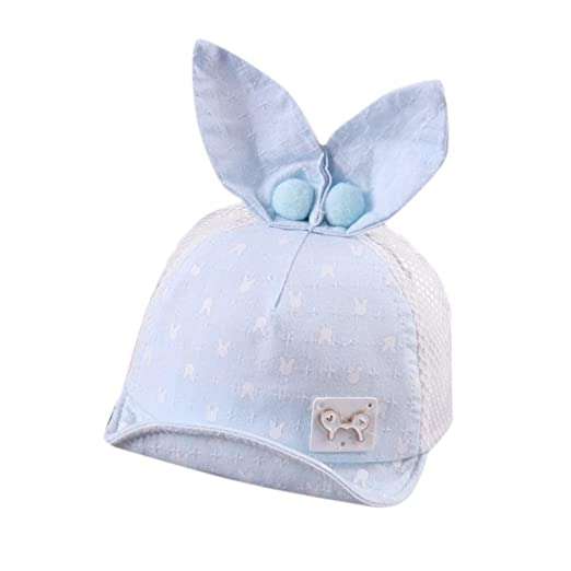 1d6a4796cca Baby Toddler Boys Girls Cute Soft Cartoon Mesh Hat Infant Baseball Hat  Summer Rabbit