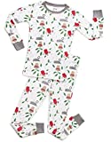 Leveret Organic Boys Girls 2 Piece Pajama Set Top & Pants PJ's 100% GOTS Certified Organic Cotton (Toddler-14 Years)