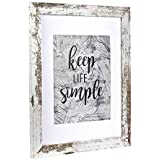 Home&Me 11x14 White Picture Frame - Made to Display Pictures 8x10 with Mat or 11x14 Without